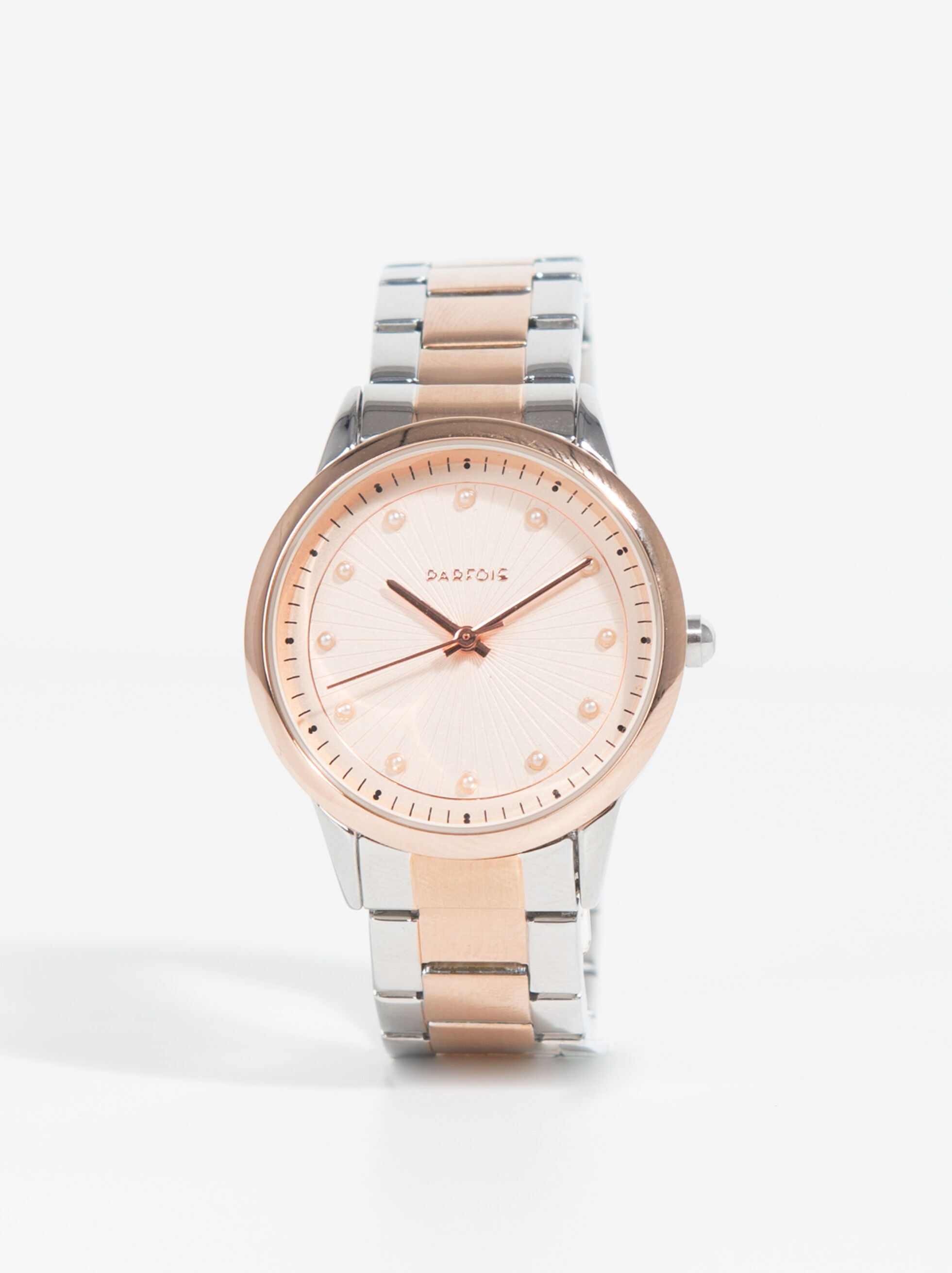 crystal leather watch rose grey ladies stella tone free watches products silver strap swarovski duty gold