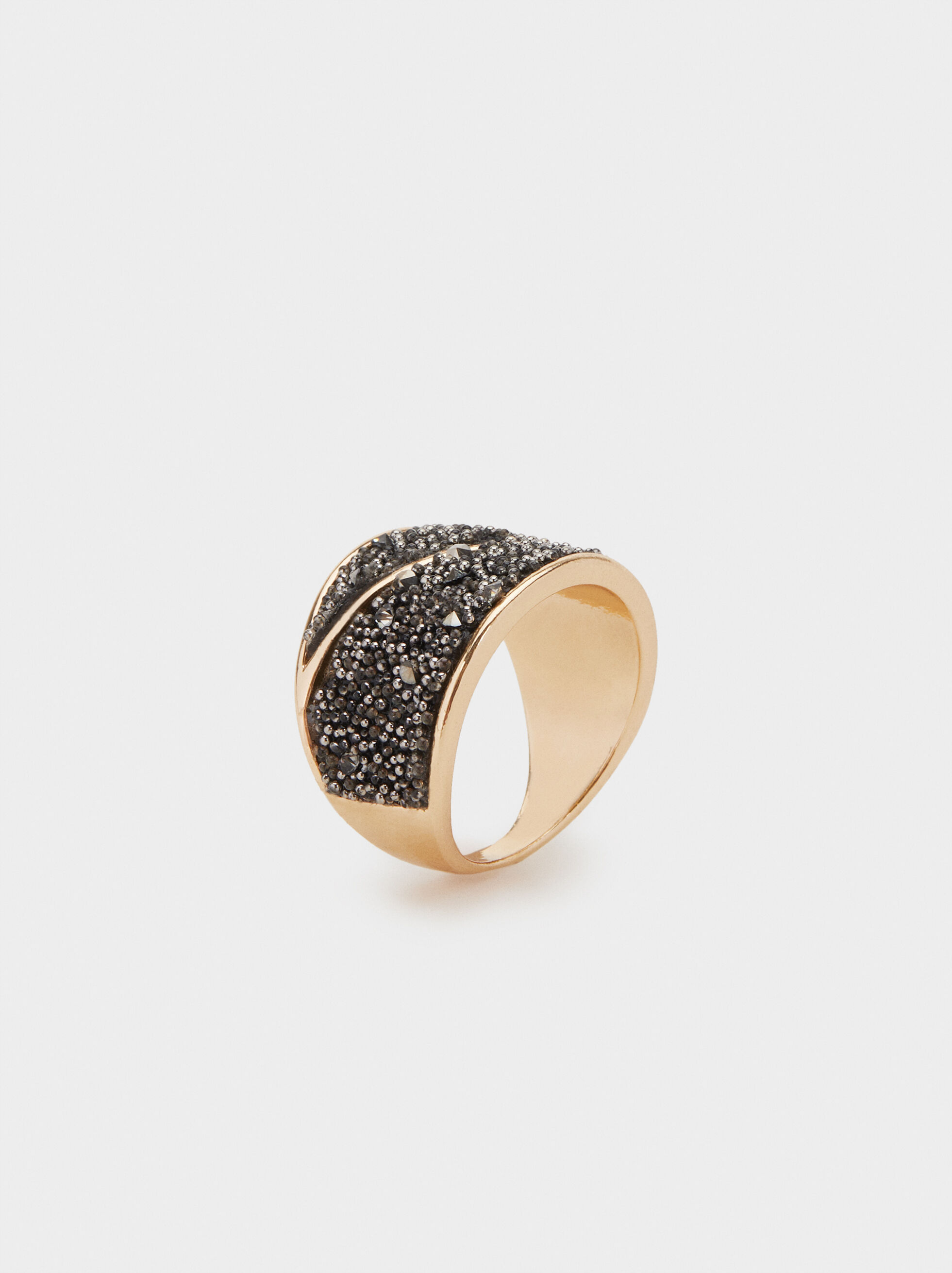Ring With Rhinestones, , hi-res