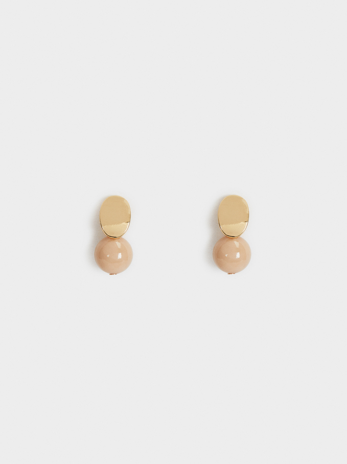 Creme Short Earrings, Pink, hi-res