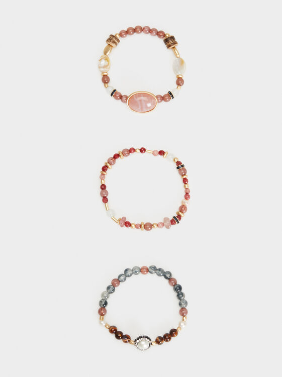 Bubbles Elastic Bracelet Set, Multicolor, hi-res