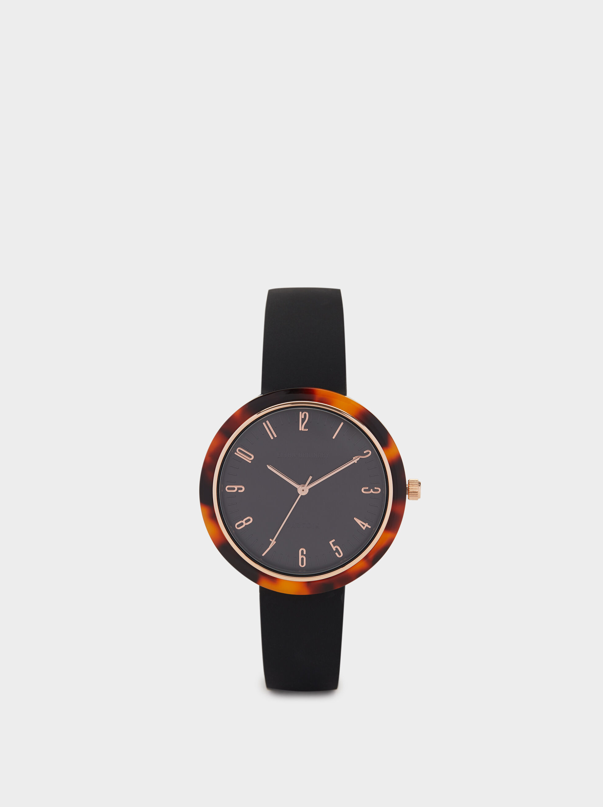 Watch With Tortoiseshell Bezel, , hi-res
