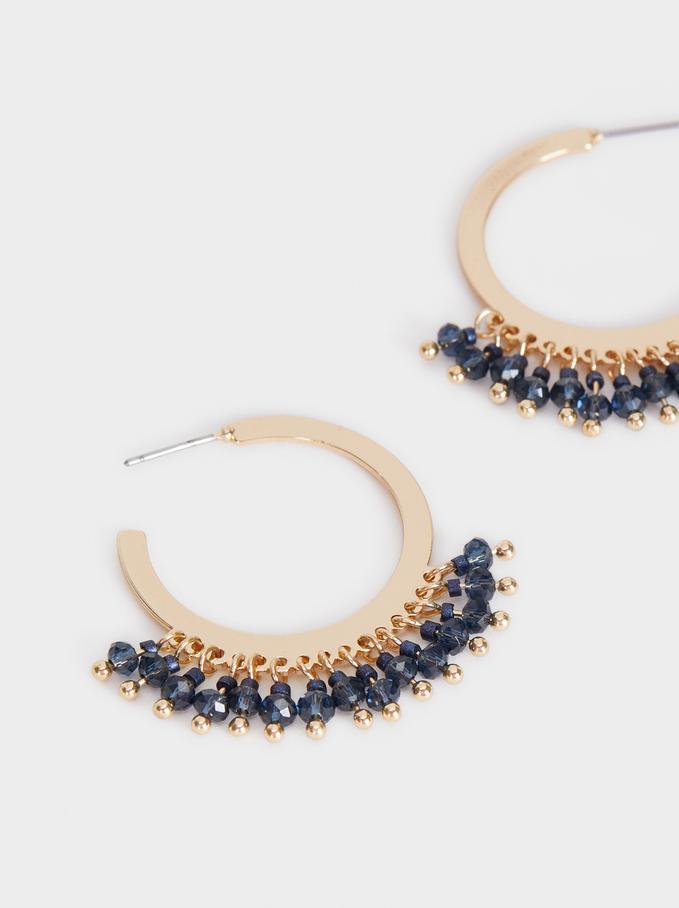 Bubbles Medium Hoop Earrings, Multicolor, hi-res
