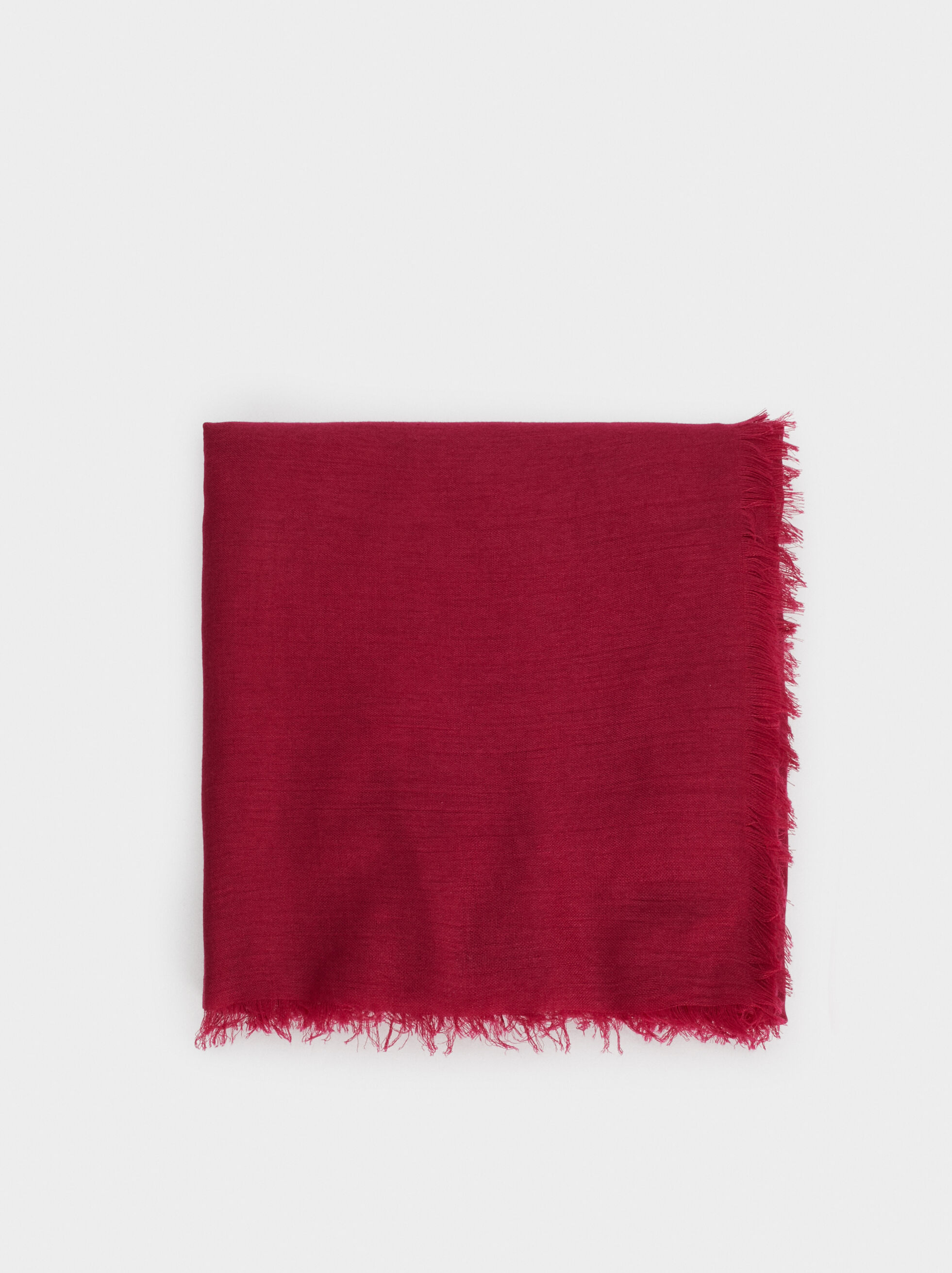 Plain Pashmina With Frayed Detailing, , hi-res