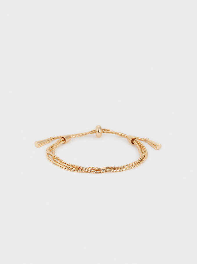 Adjustable Gold-Toned Bracelet, Golden, hi-res