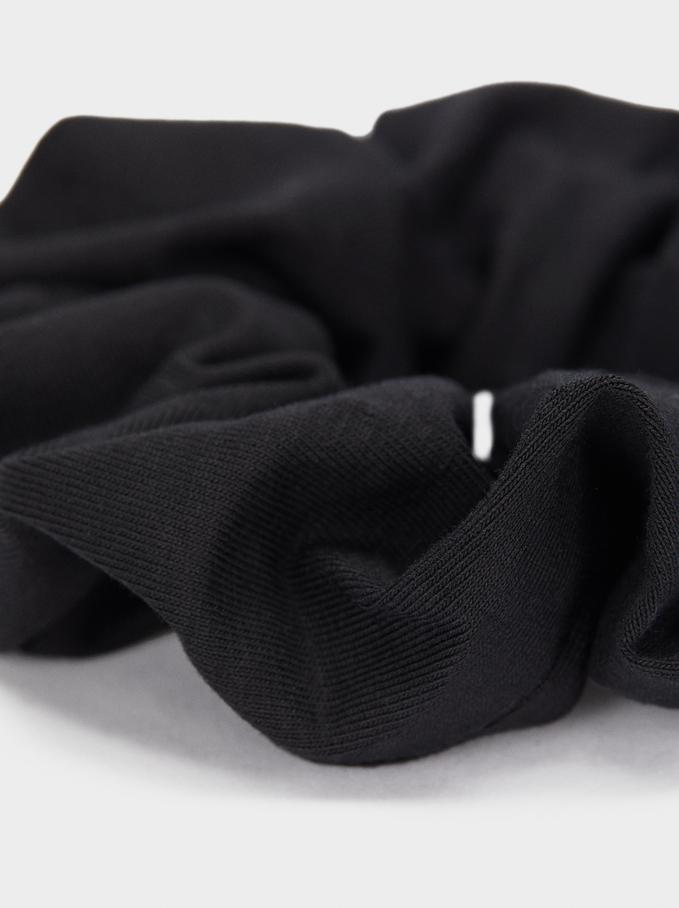 Basic Hair Tie, Black, hi-res
