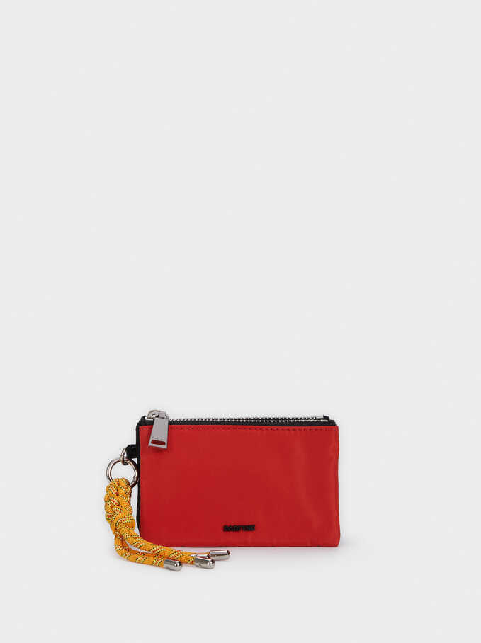 Nylon Multi-Use Purse , Orange, hi-res
