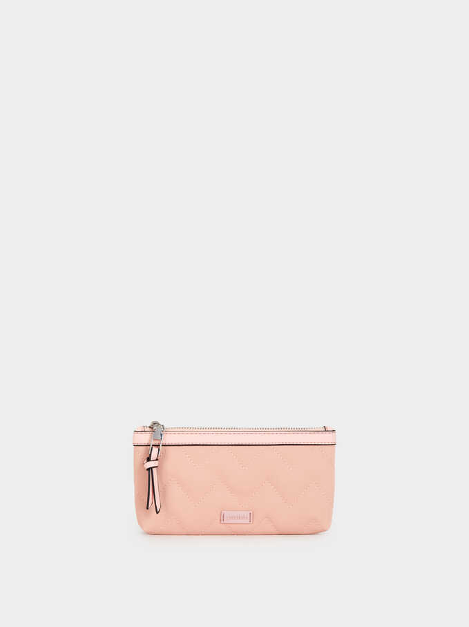 Quilted Nylon Case, Pink, hi-res