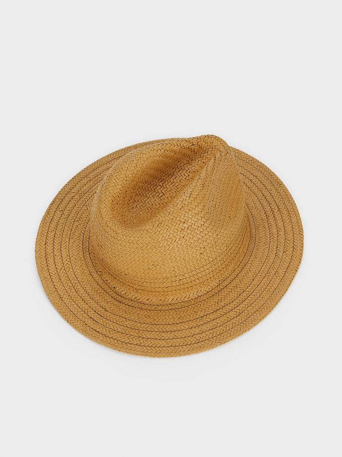 Chapeau Texture Raphia, Beige, hi-res
