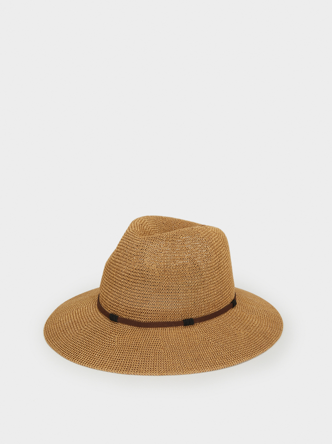 Hat With Contrast Band, Camel, hi-res