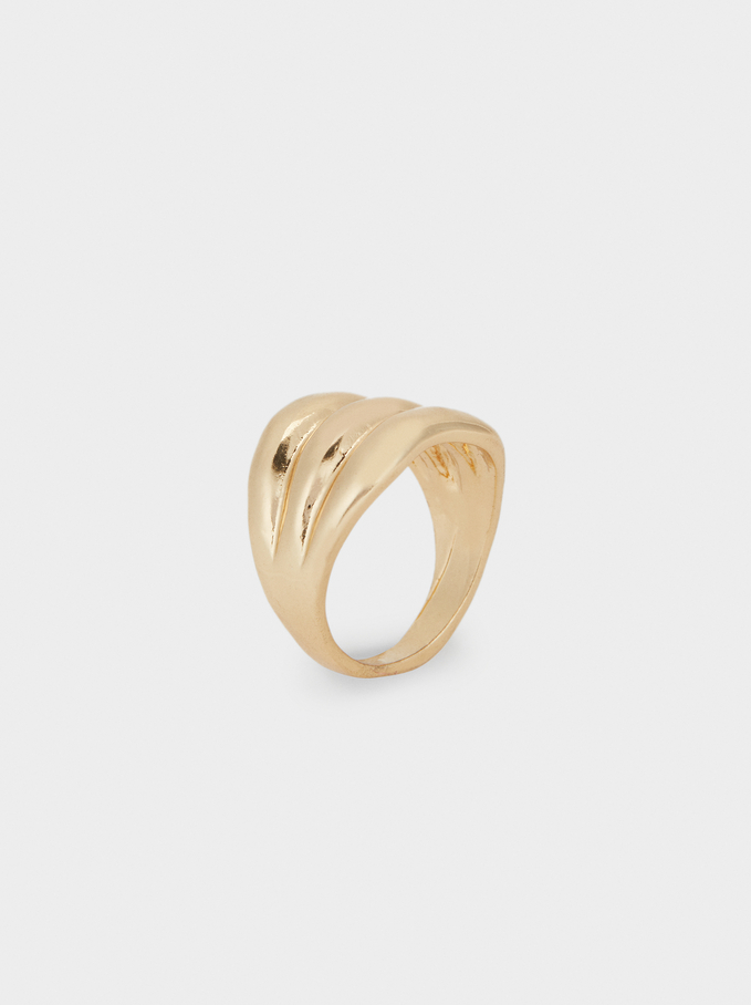 Fancy Pearls Ring, Golden, hi-res