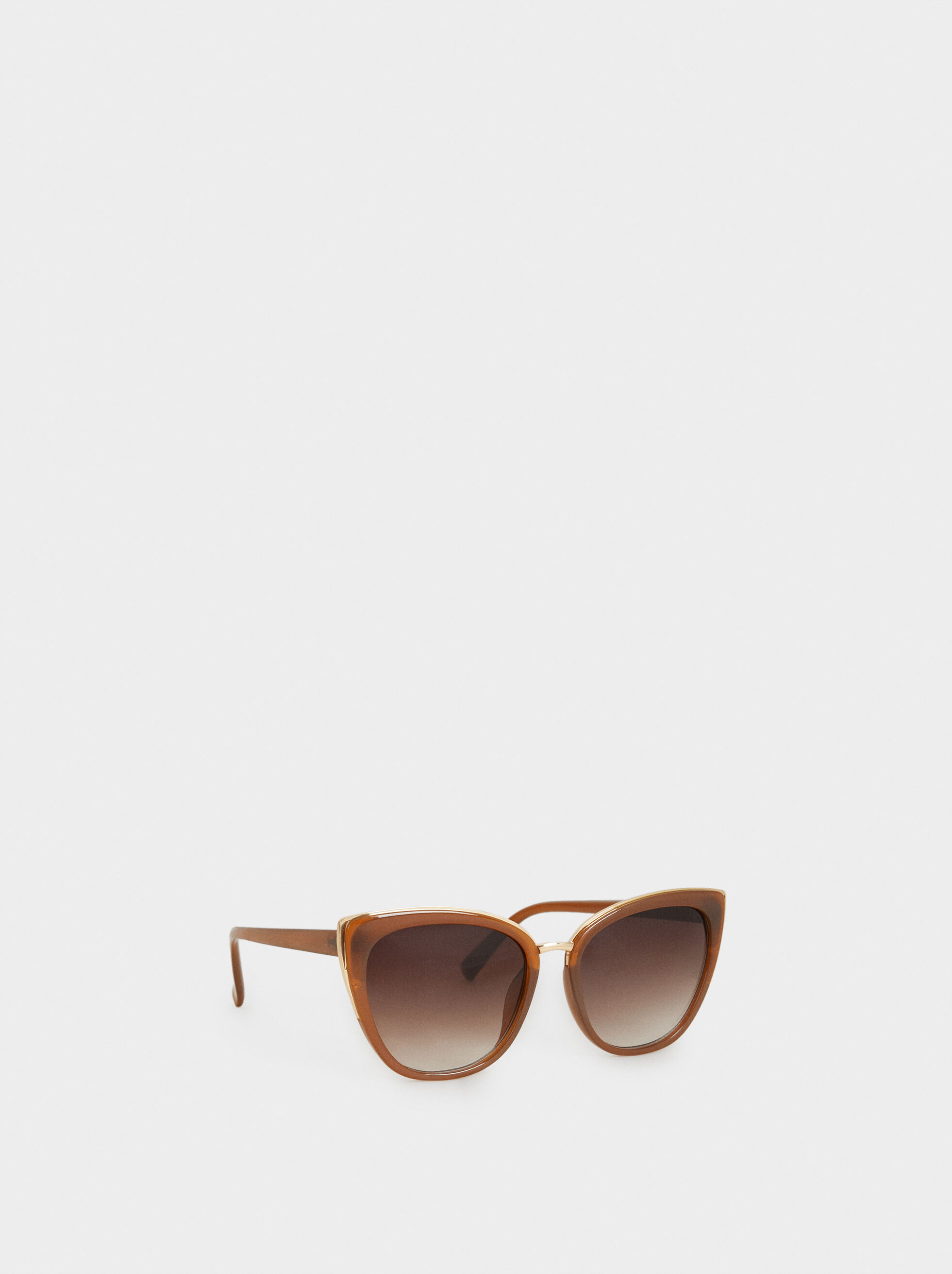 Cateye Sunglasses, Camel, hi-res