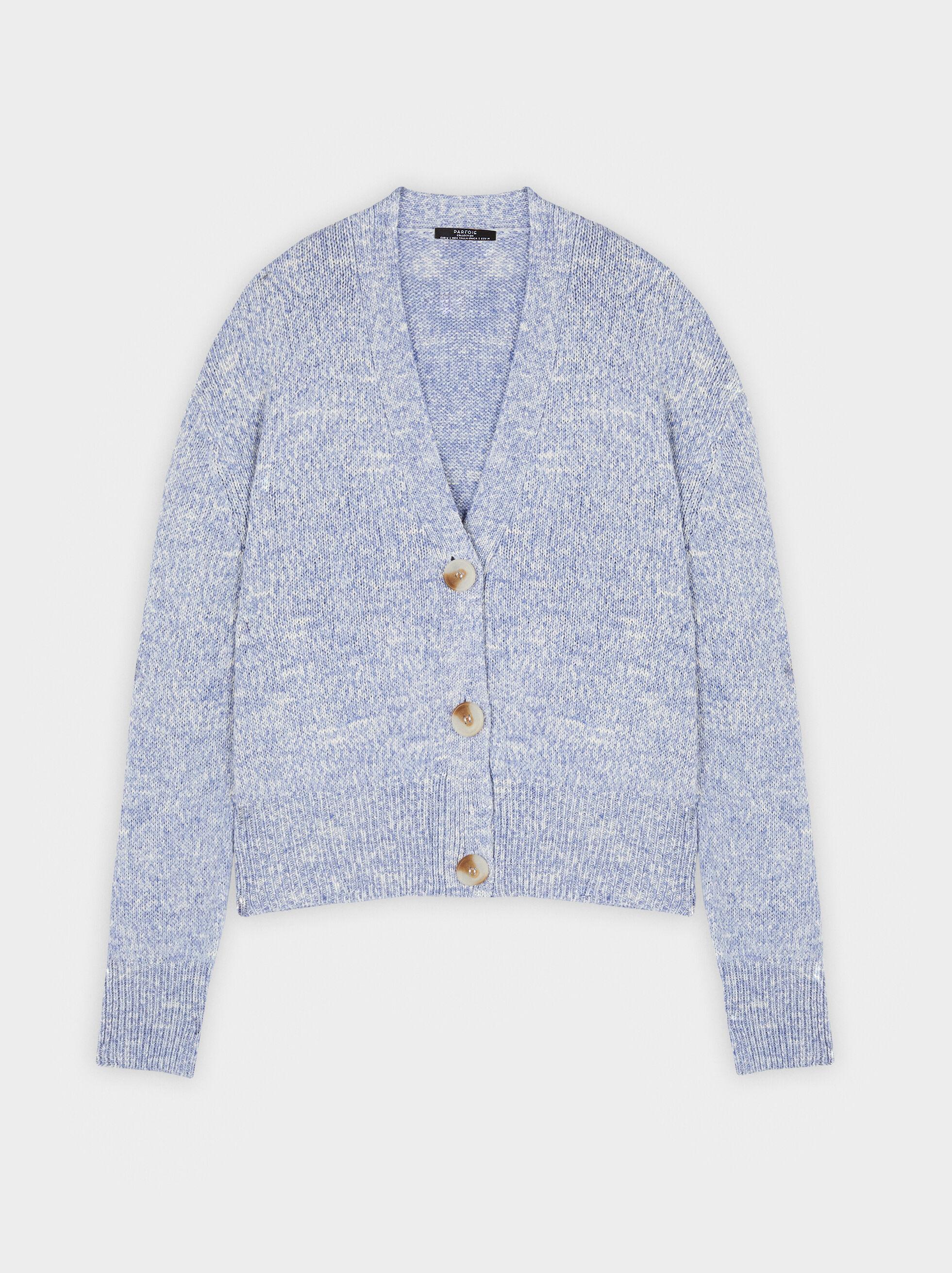 Mottled Knit Cardigan