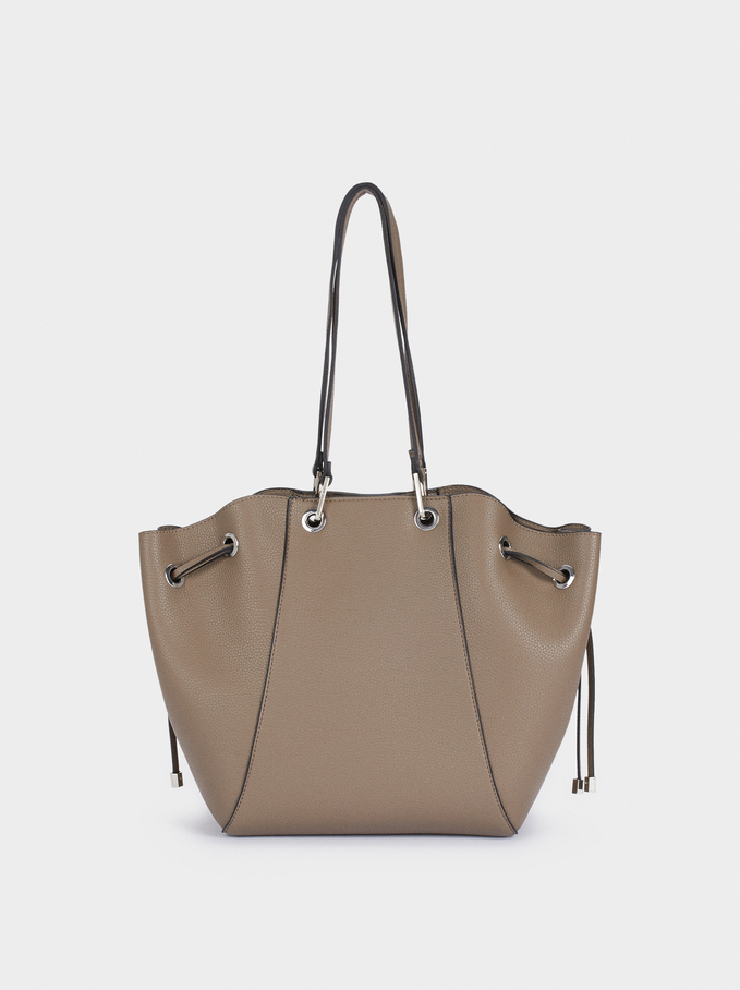 Tote Bag With Removable Interior, Brown, hi-res