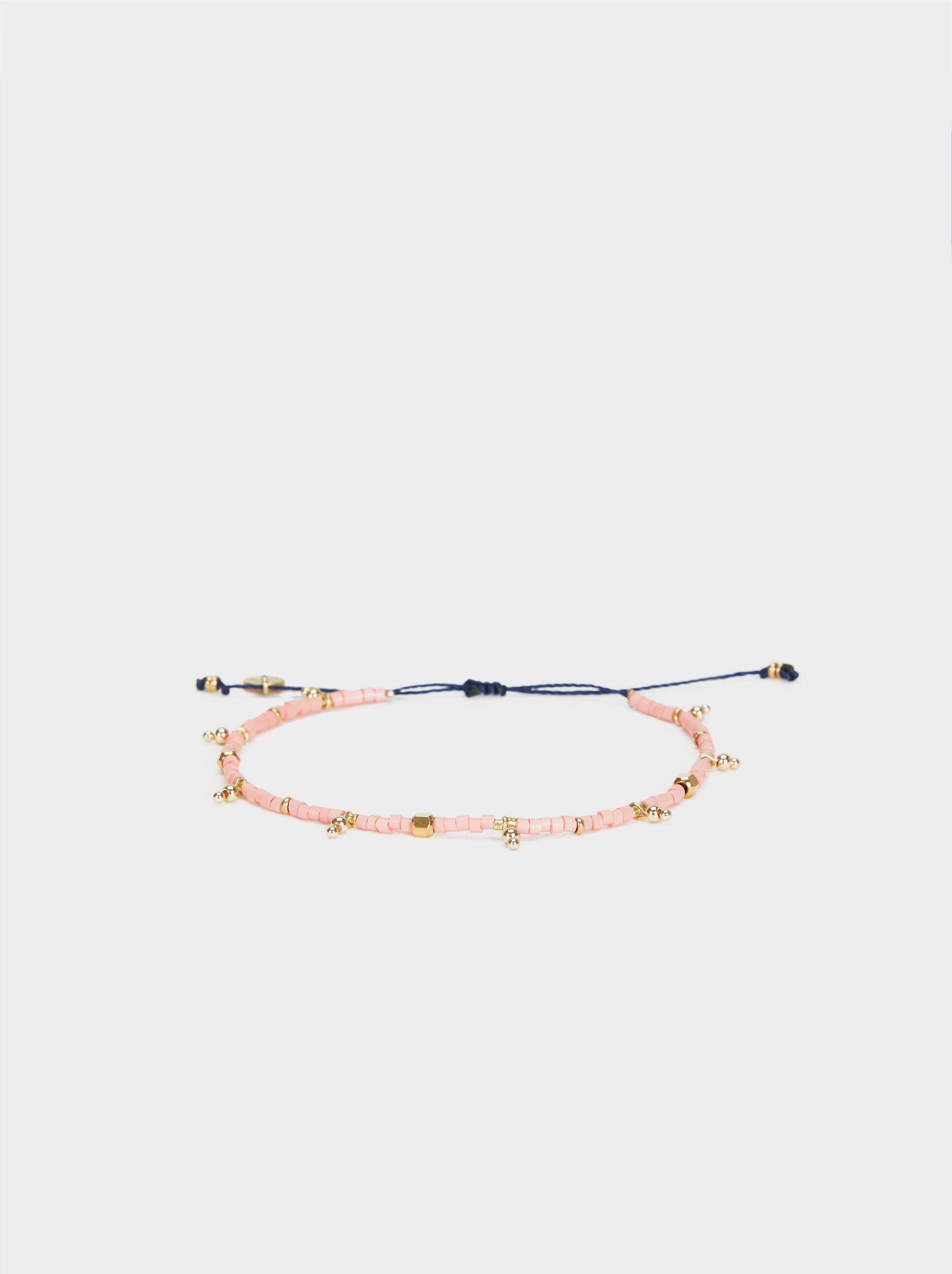 Adjustable Bracelet With Beads, Red, hi-res