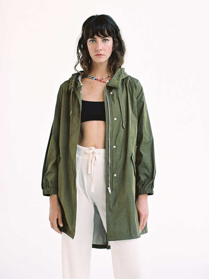 Waterproof Jacket, Khaki, hi-res