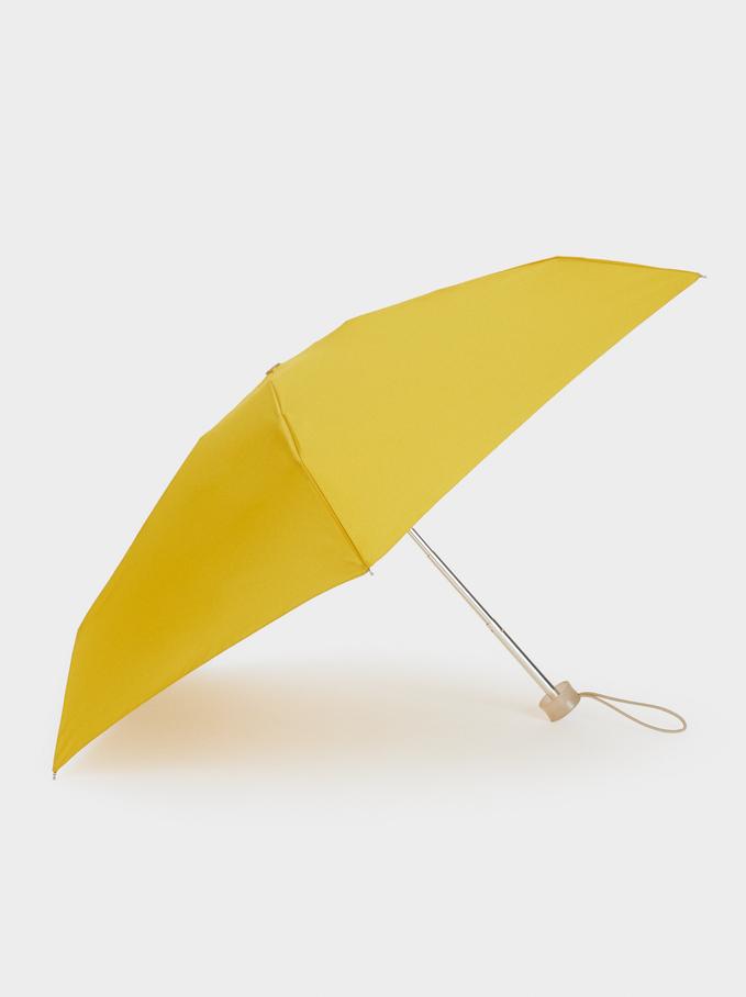 Small Folding Umbrella, Yellow, hi-res