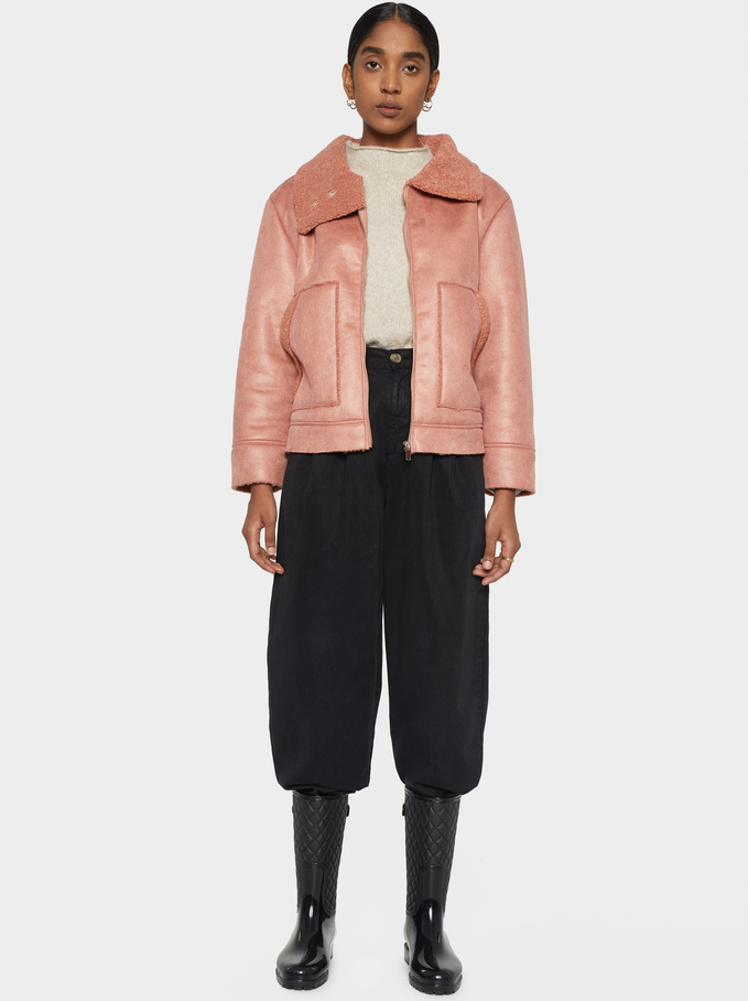 Double-Sided Jacket, Pink, hi-res