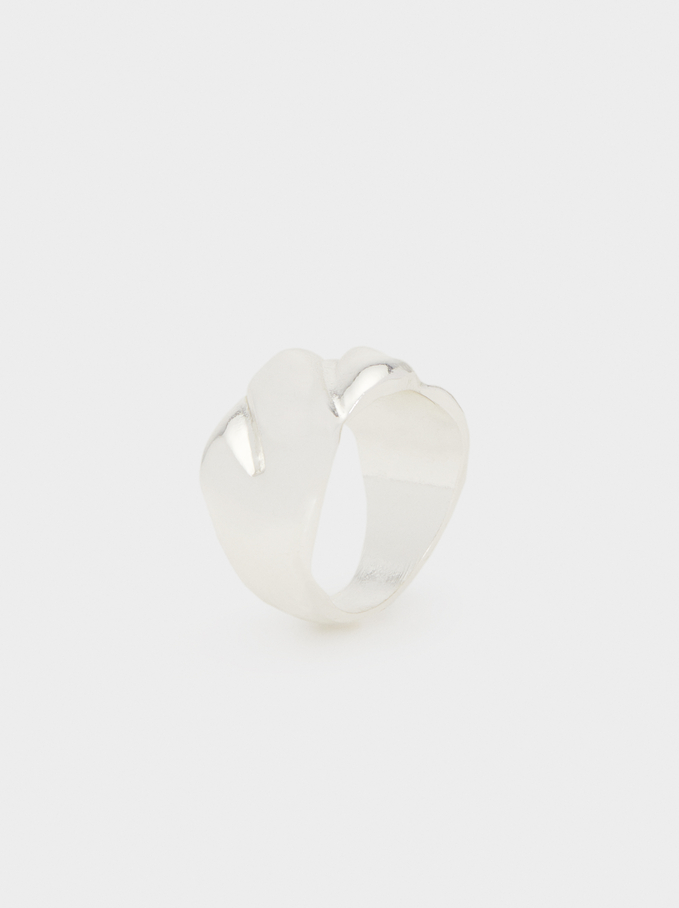 Basic Wide Ring, Silver, hi-res