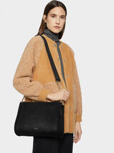 Suede Texture Shoulder Bag, , hi-res