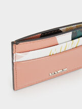 Printed Card Holder, Pink, hi-res