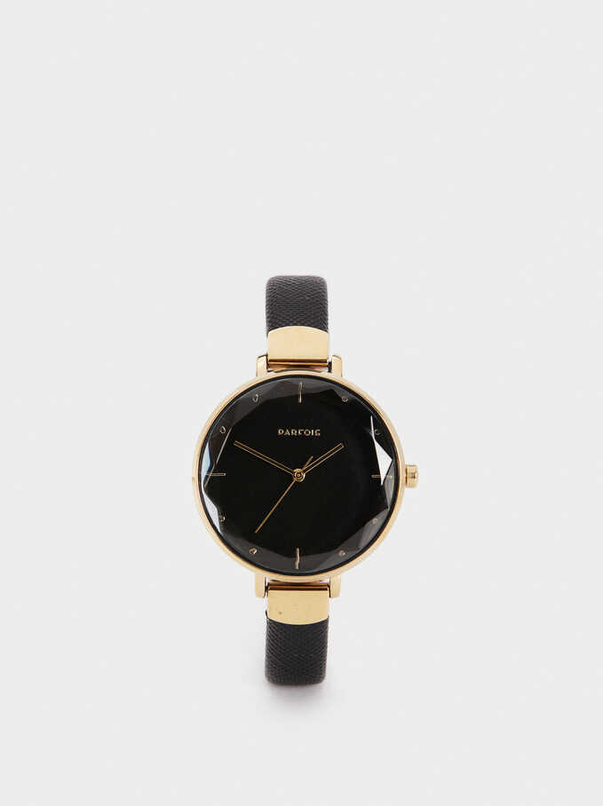 Gold Watch, Black, hi-res