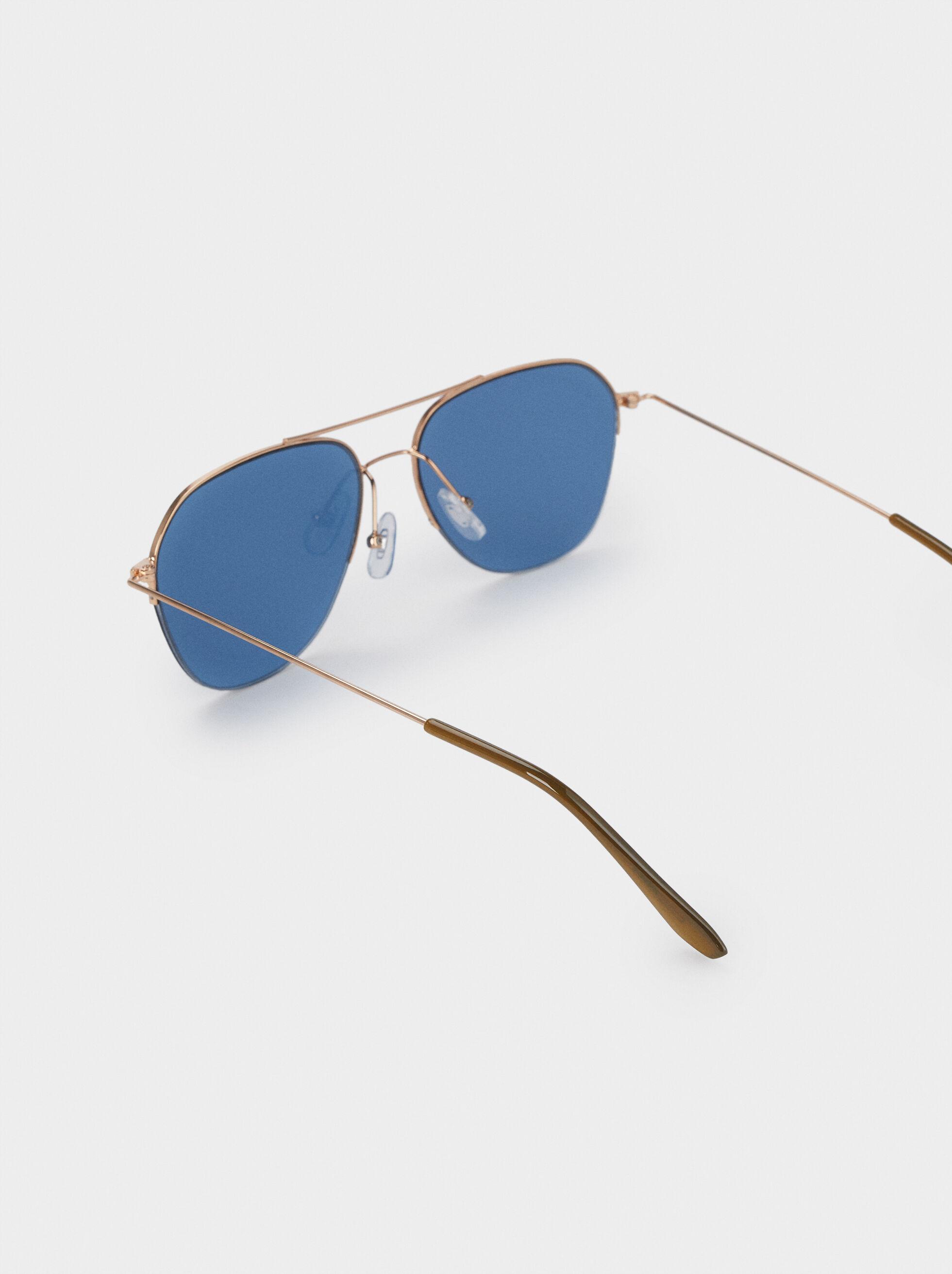 Óculos De Sol Aviador, Laranja, hi-res