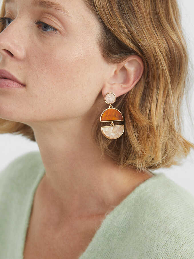 Geometric Earrings, Multicolor, hi-res
