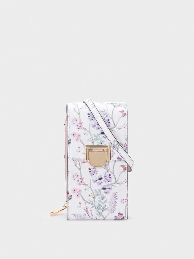 Smartphone Cover With Card And Coin Holder, Violet, hi-res
