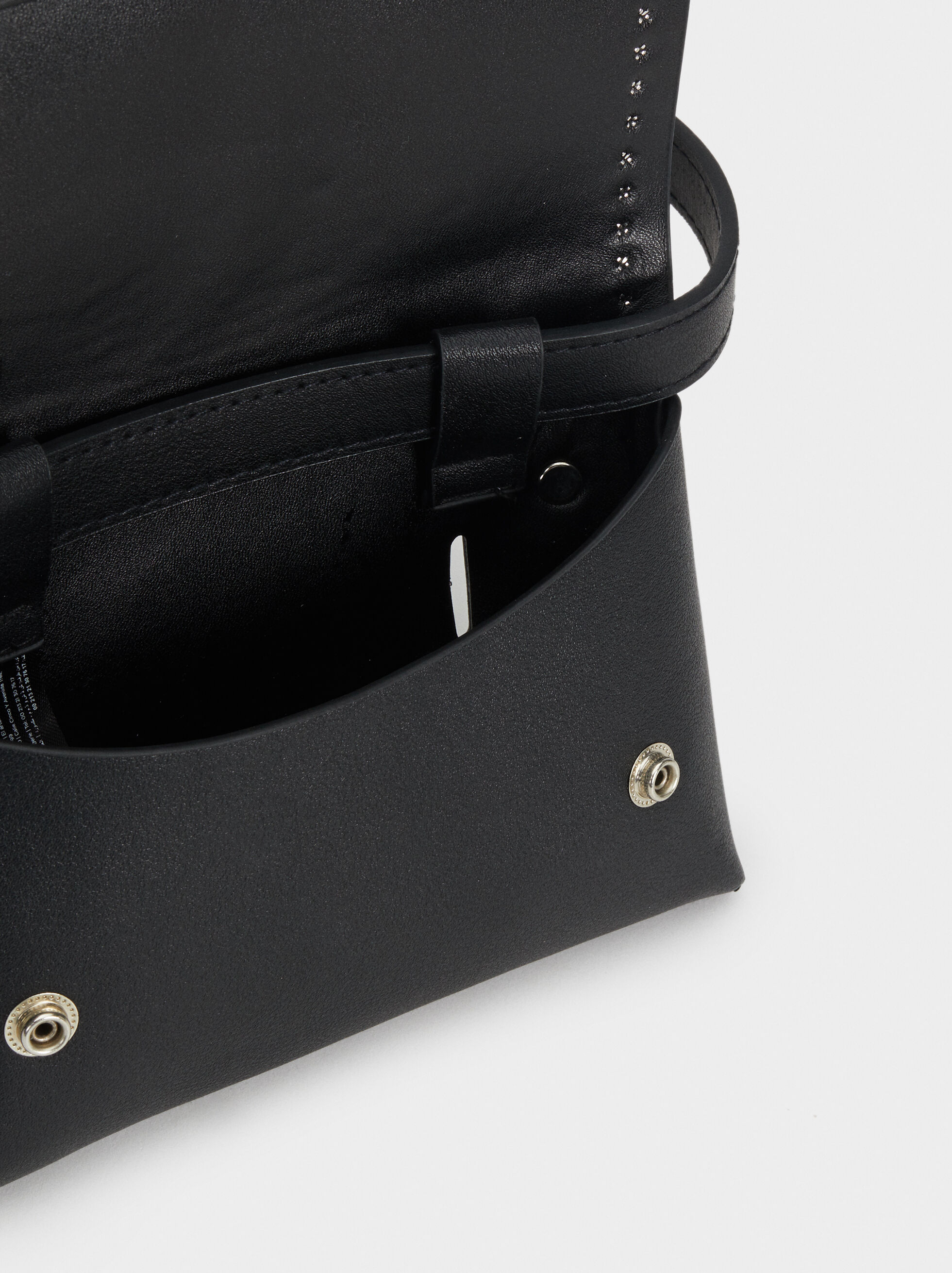 Belt Bag With Studs, Black, hi-res