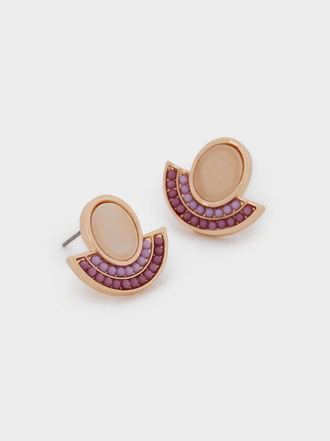 Small Seashell Earrings, Multicolor, hi-res
