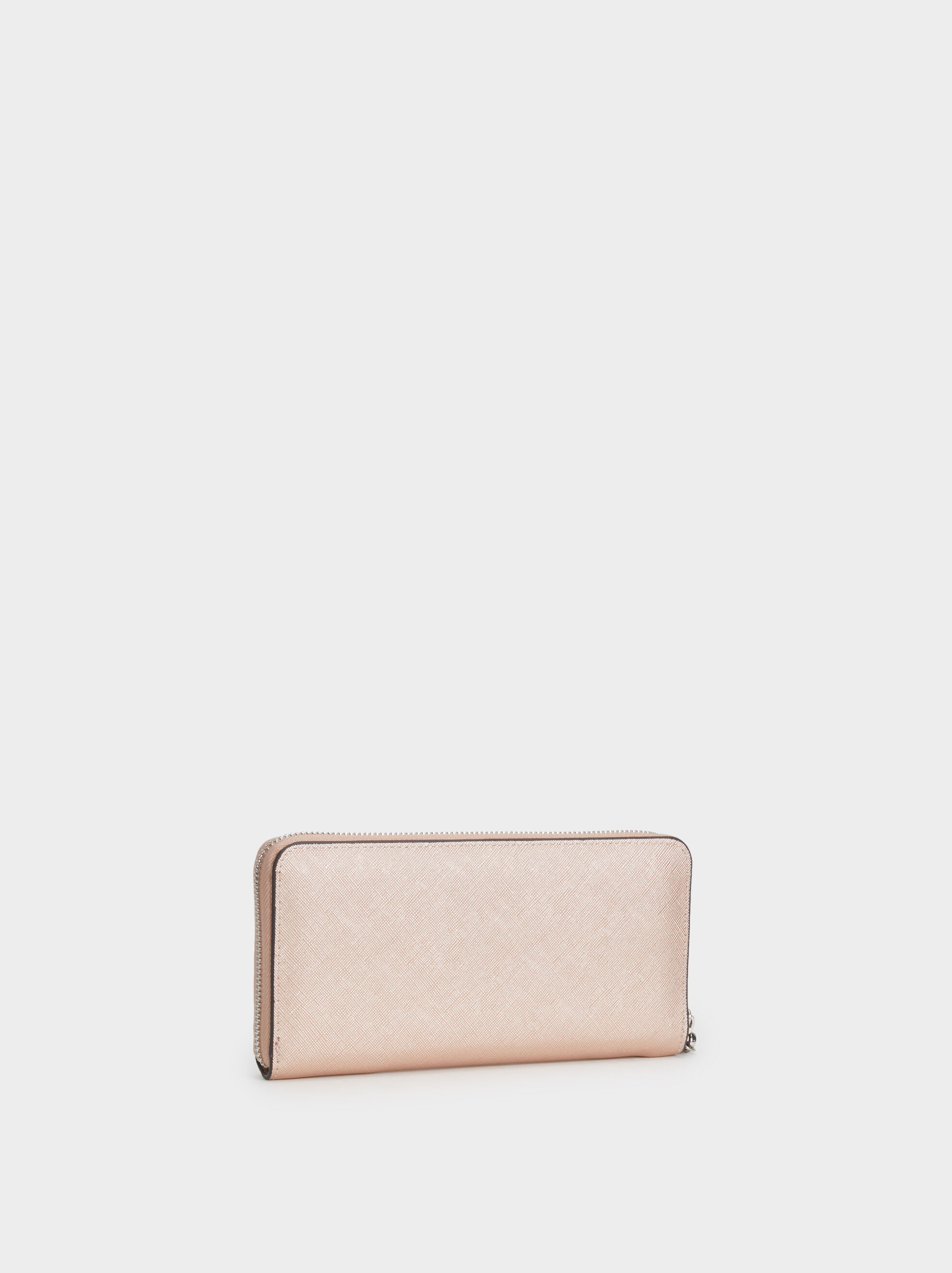 Large Wallet With Handle, Orange, hi-res