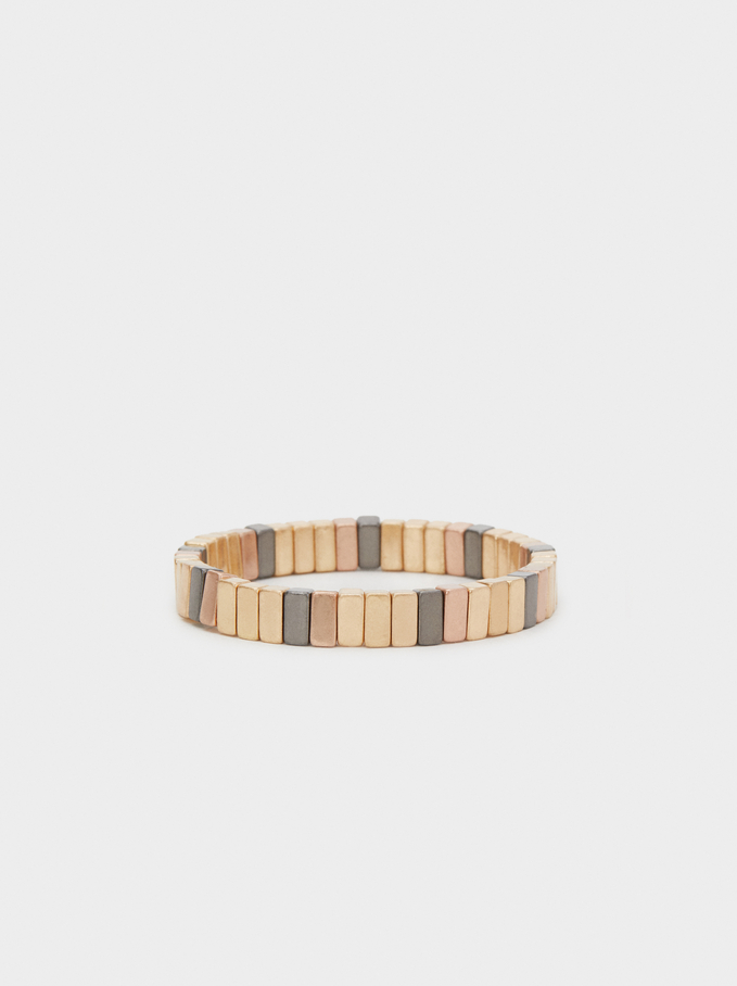 Metallic Shades Elastic Bracelet, Multicolor, hi-res