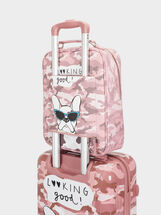 Printed Carry-On Trolley, Pink, hi-res
