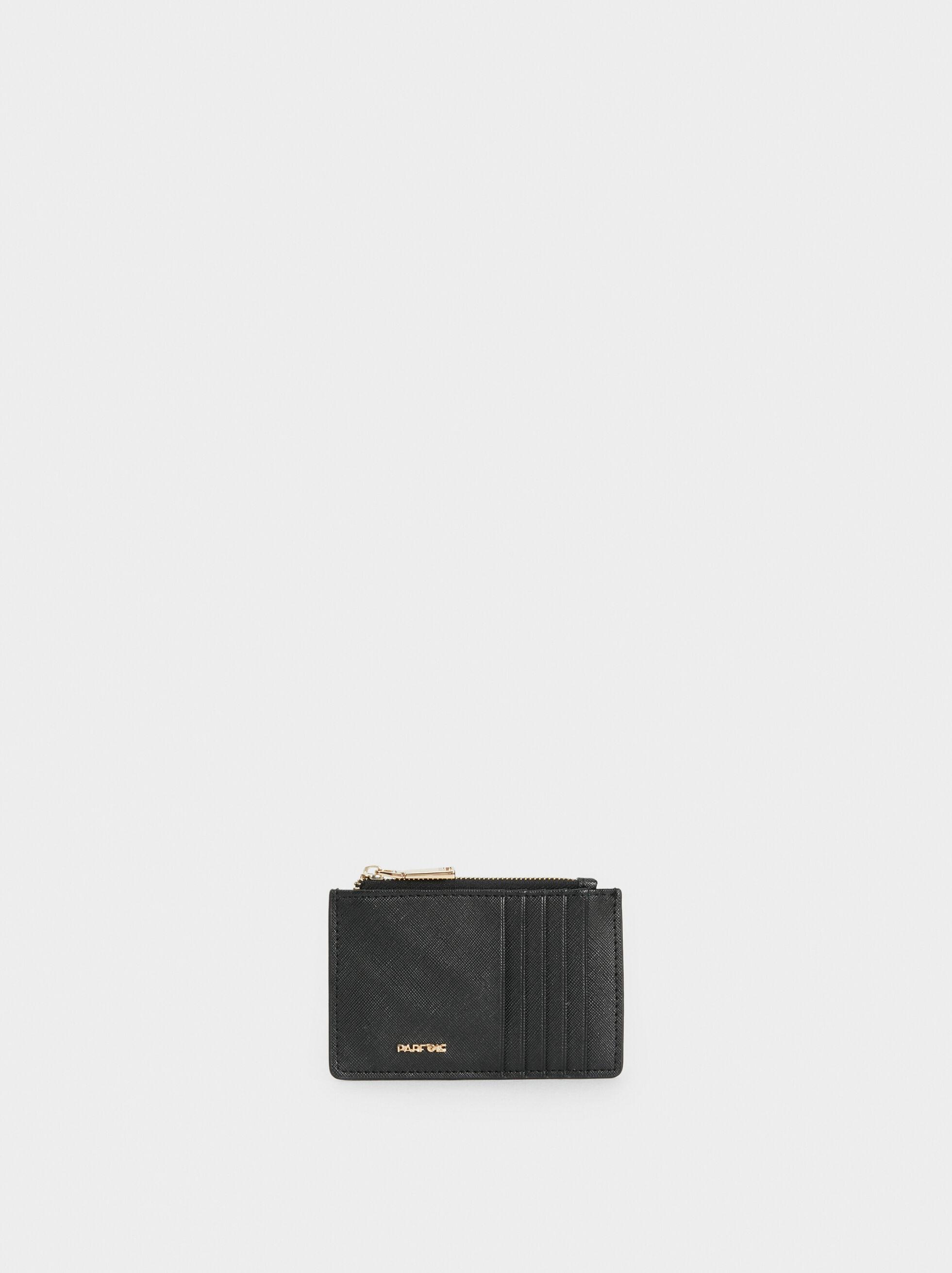 Plain Card Holder, Black, hi-res