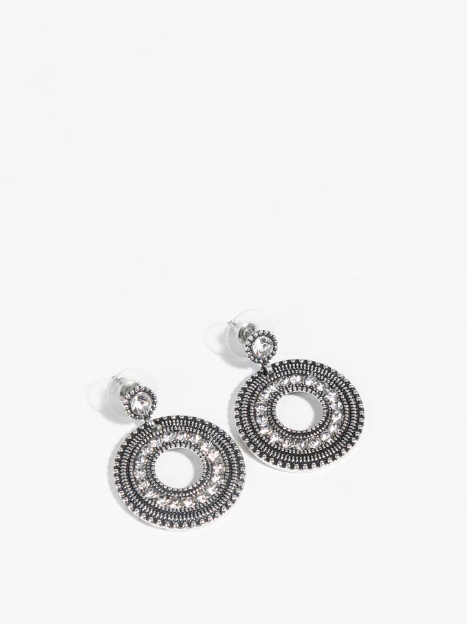 Basic Medium Earrings, Silver, hi-res