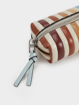 Medium Purse With Key Ring, Blue, hi-res