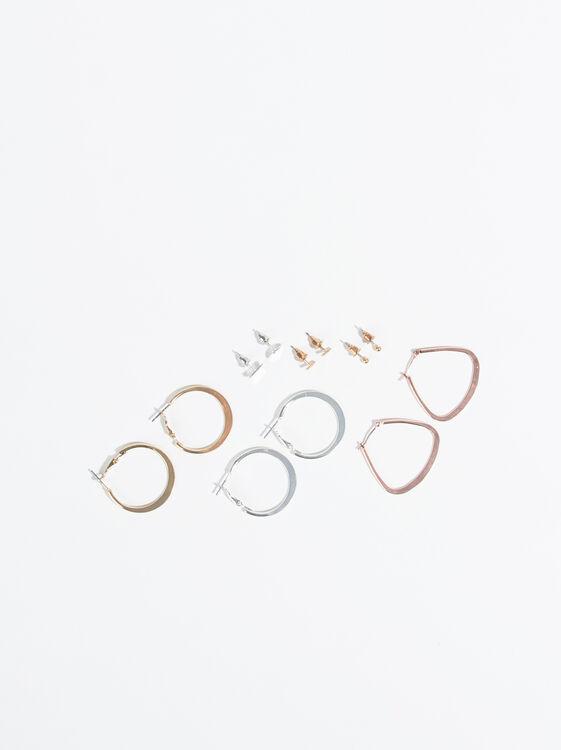 Set Of Basic Earrings, Multicolor, hi-res