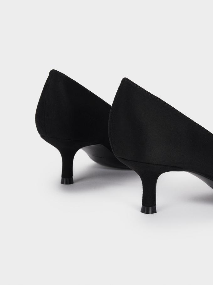 Medium Heel Shoes, Black, hi-res