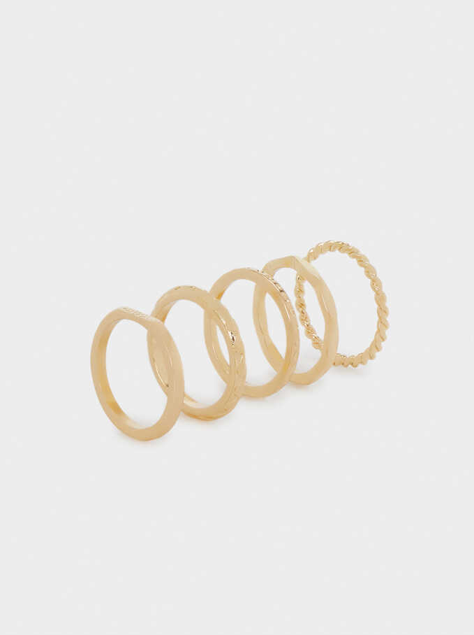 Set Of Golden Rings, Golden, hi-res