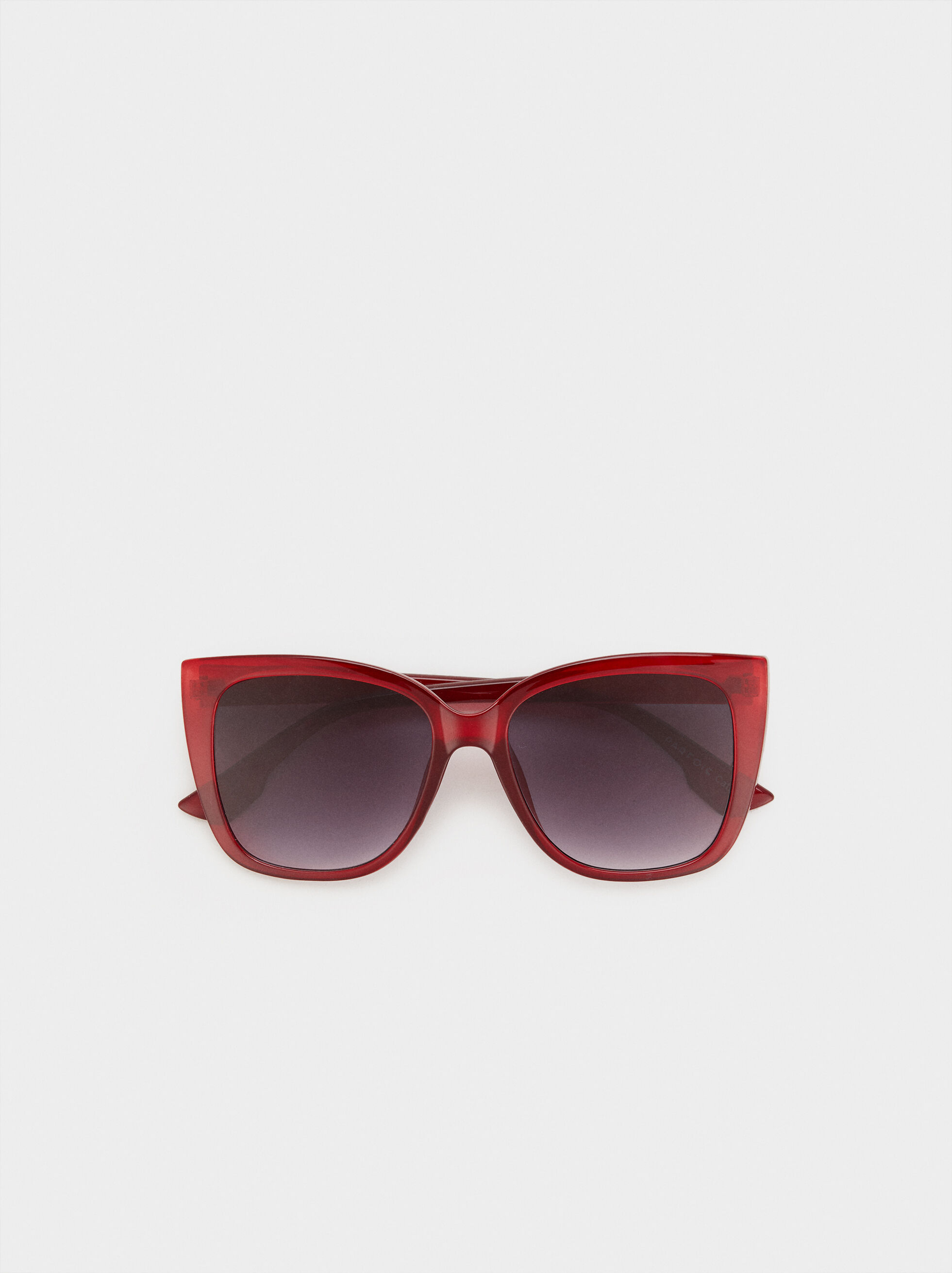 Resin Sunglasses, Red, hi-res