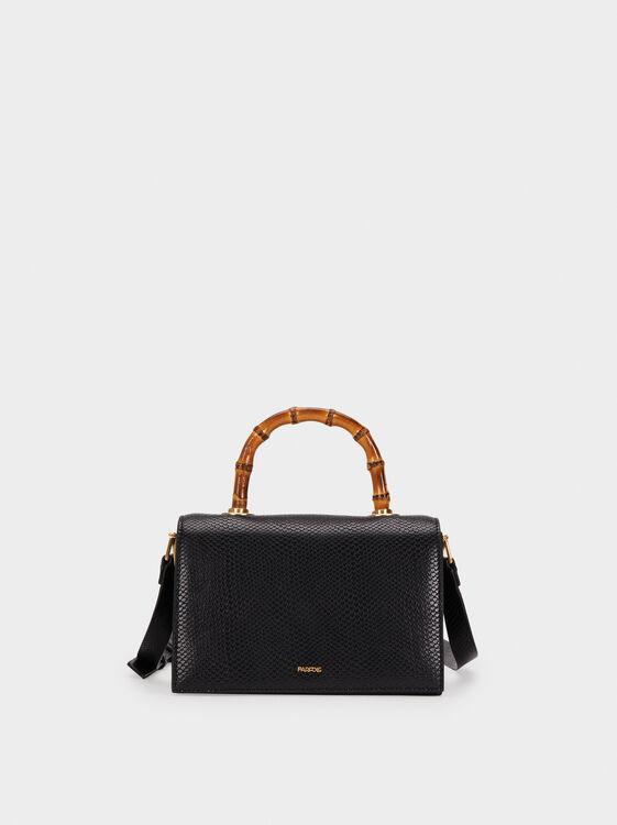 Shoulder Bag With Bamboo Handle, , hi-res
