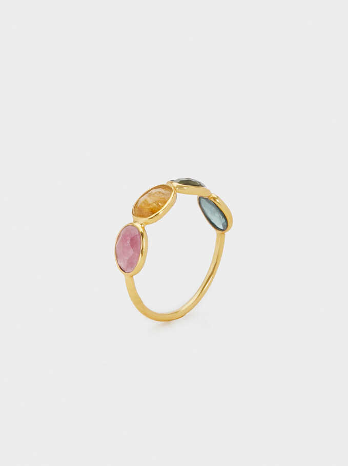 925 Silver Stone Ring, Multicolor, hi-res