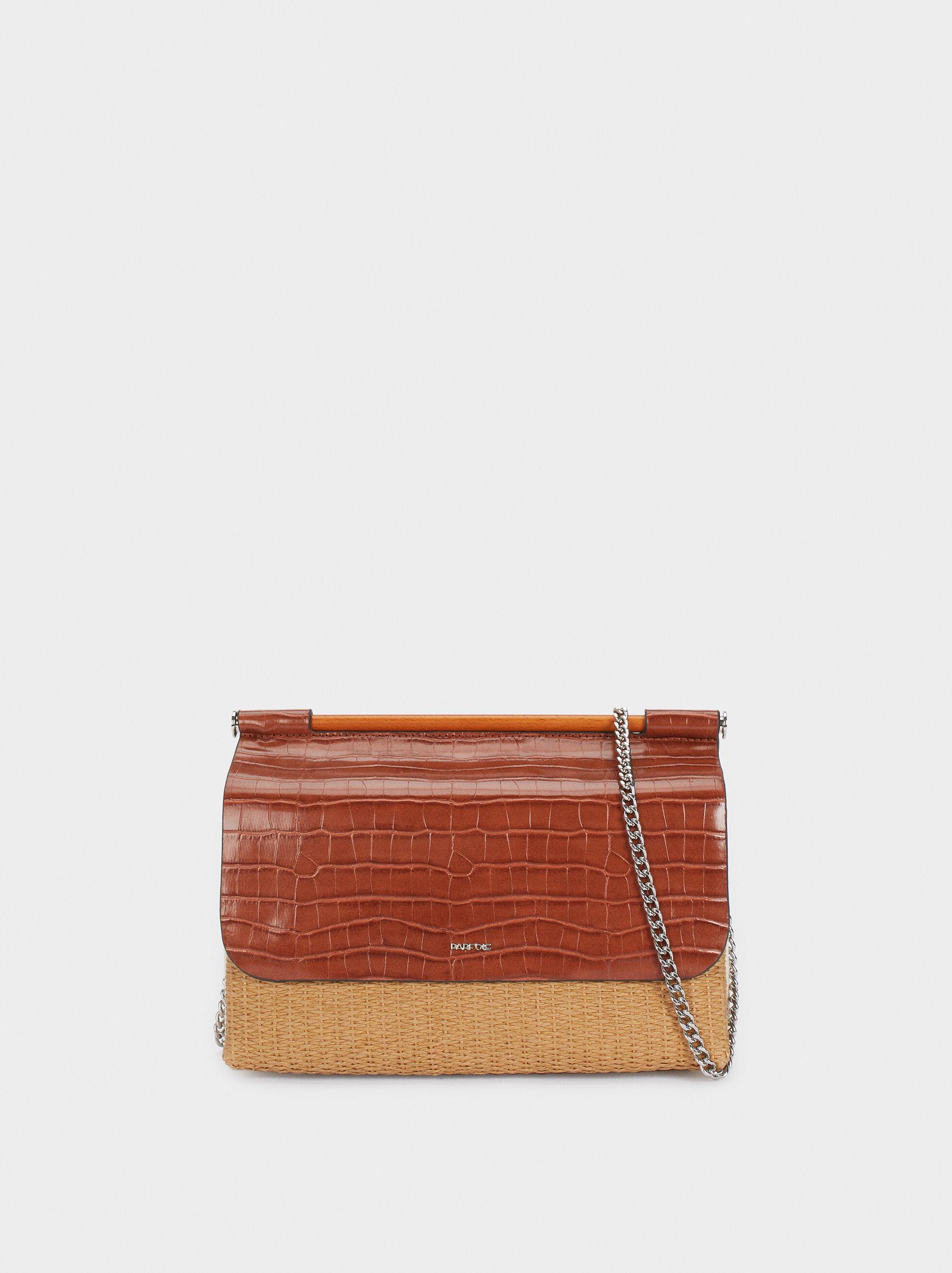 Bolso de mano de mujer Parfois tipo Tote detalle trenzado