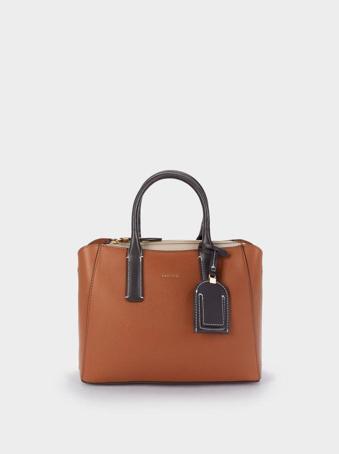 Shopper Bag With Multi-Way Handle, Camel, hi-res