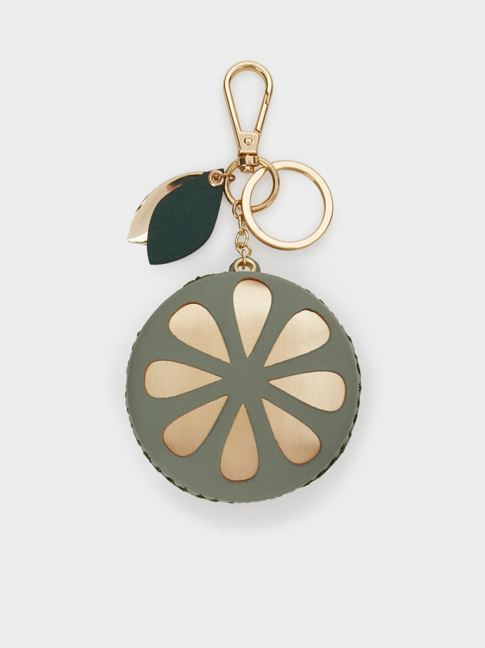 Lemon Key Ring, Green, hi-res