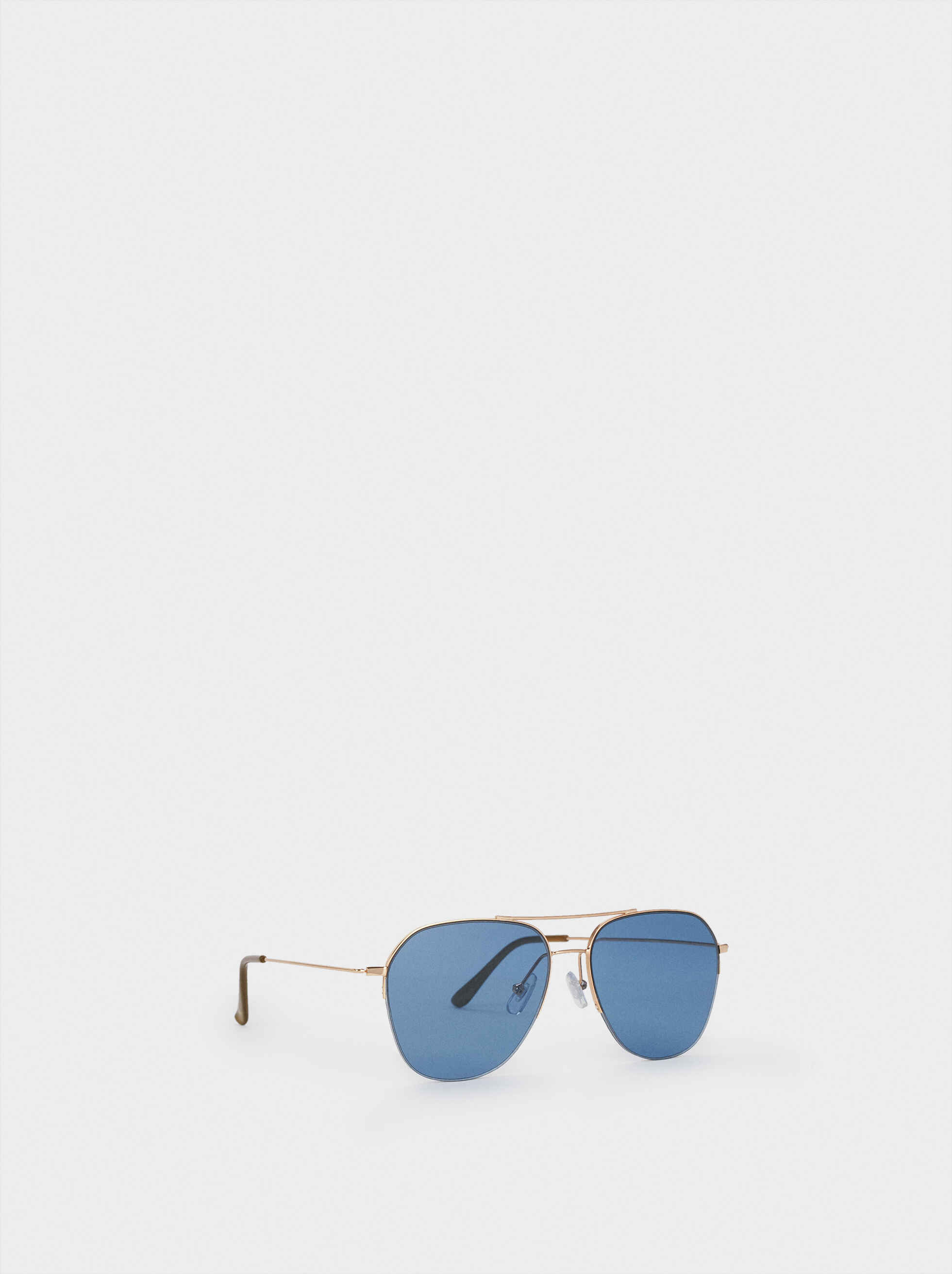 Aviator Sunglasses, Orange, hi-res