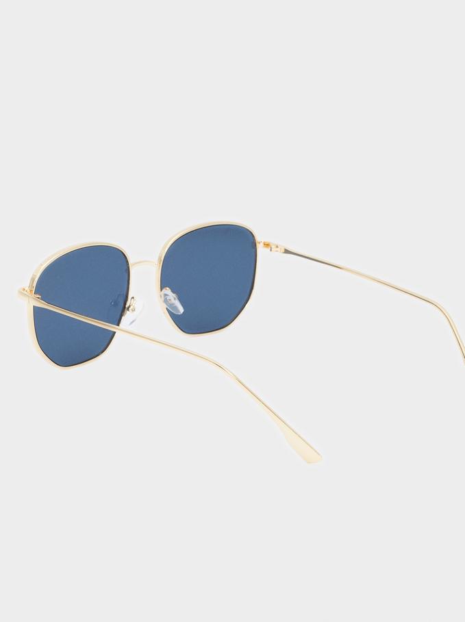 Occhiali Da Sole Metallici, D'oro, hi-res