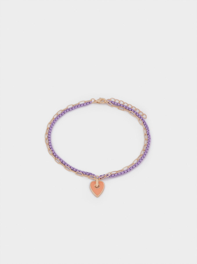 Anklet With Heart, Multicolor, hi-res