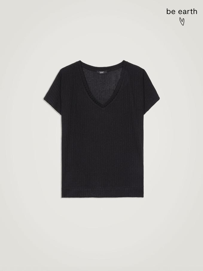 Koszulka Wykonany Z Materialów Z Recyklingu, Czarny, hi-res