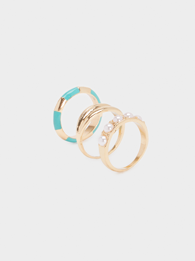 Recife Ring Set, Beige, hi-res